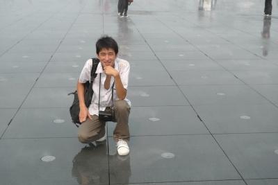 和好友兰林一起在上海世博园里,在知道有世…