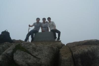 我们上清凉峰了,脚真的走软了,完全没有力…