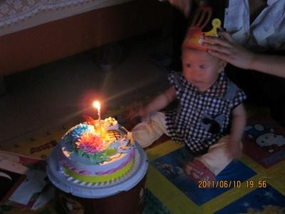 我过生日了,吹蜡烛吧